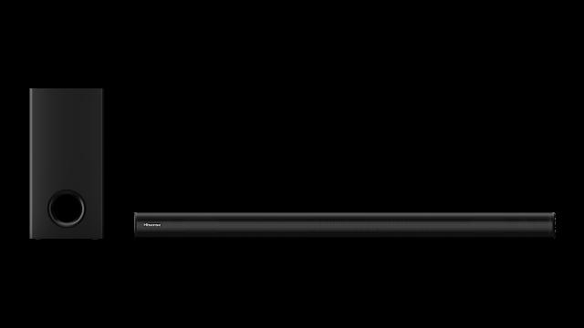 2.1 canaux avec caisson de basses sans fil