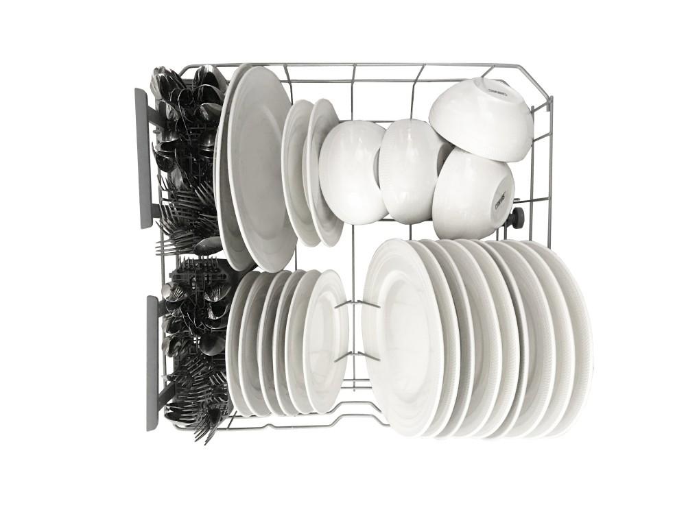 full rack clean plates