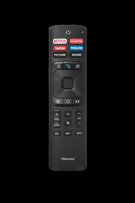 65Q8809 remote FrontView Transparent SpecSheet 2