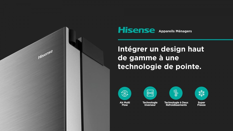hisense slider home appliances FR